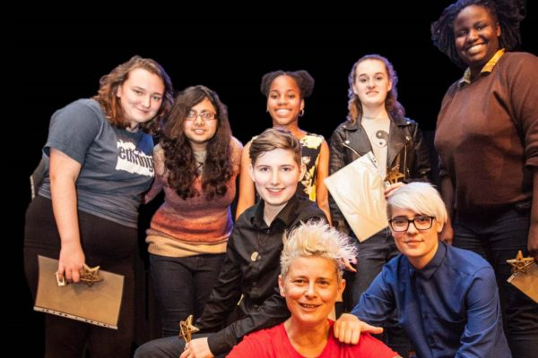 Winners of the 2015 SLAMbassadors national youth slam